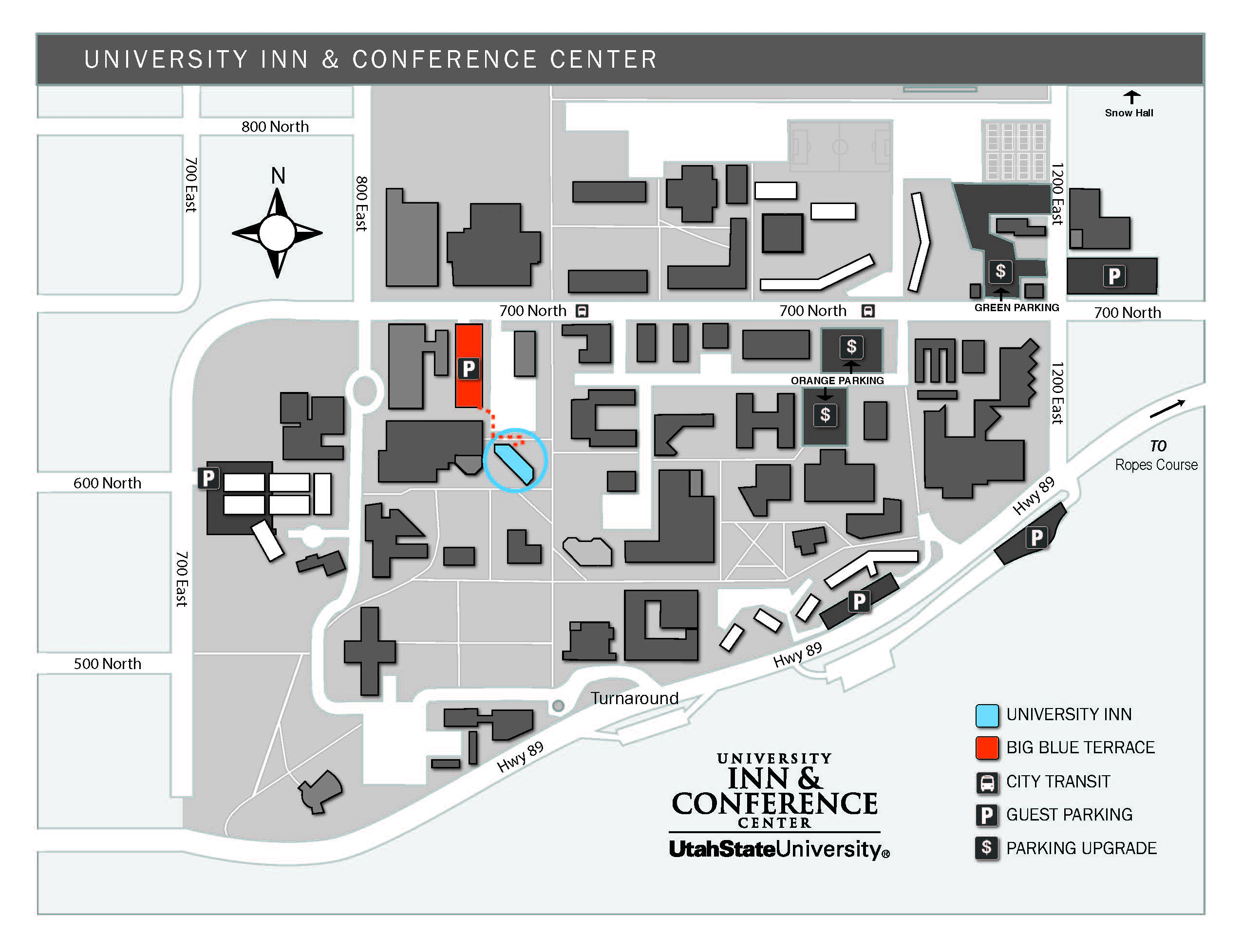 USU Parking Map